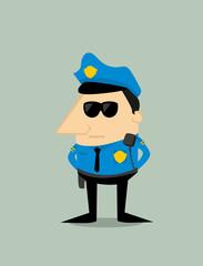 Cartoon plice officer