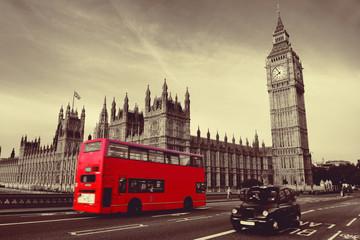 Fototapeta Bus in London