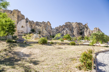 Foto auf Leinwand Zypern The ruins of the monastery complex at the Open Air Museum Goreme