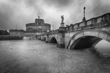 Castel Sant'Angelo in Rome - Rainy day