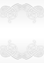 Abstract Background Ornament White 1
