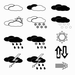 Set of weather icons.