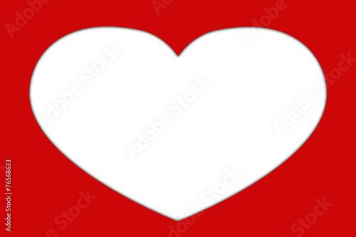 Grußkarte mit Herz Rahmen für eigenes Foto\