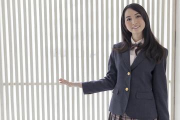 学校の廊下 コピースペース女子高生