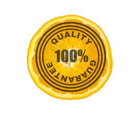 cut half orange, 100 % quality guarantee