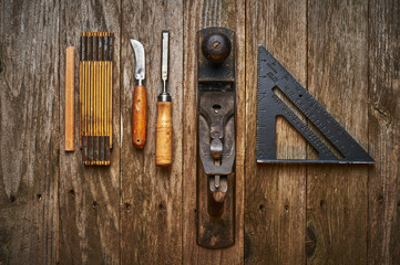 old wood working tools