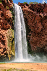 Falls Mooney in rocks , Havasu Falls, Grand Canyon, Arizona, USA