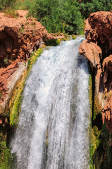 Falls in rocks, Mooney Falls, Grand Canyon, Arizona, USA