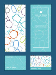 Vector colorful glasses vertical frame pattern invitation