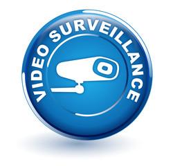 vidéo surveillance sur bouton bleu