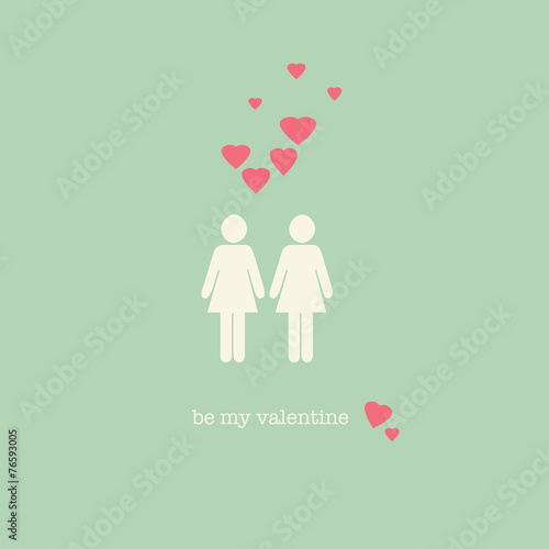 "a sweet vintage lesbian valentine's day card"" stock photo and, Ideas"
