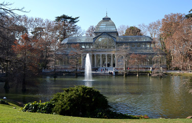 Crystal Palace in El Retiro Park in Madrid, Spain