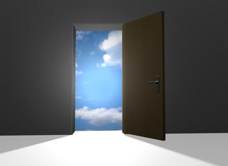 Open door to heaven