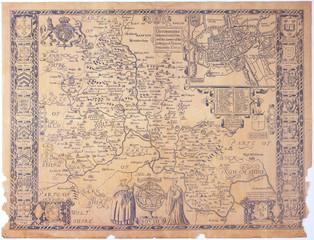 Antique Oxfordshire map
