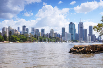 The view from Kangaroo Point in Brisbane City in Queensland.
