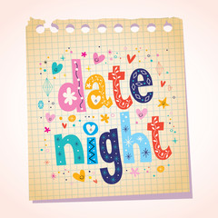 date night notepad paper message reminder