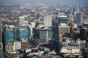 Aerial view of London from Walkie Talkie building