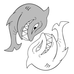 shark vector draw