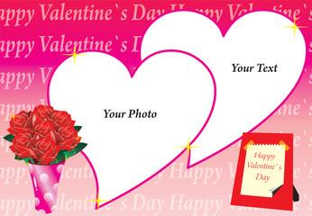 frame valentine roses
