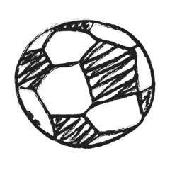 Hand draw football ball isolated illustration