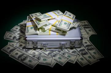 Dollars with metallic case