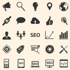 Vector Set of SEO Icons