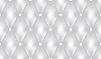 Wall Mural - White luxury quiltn vector seamless pattern