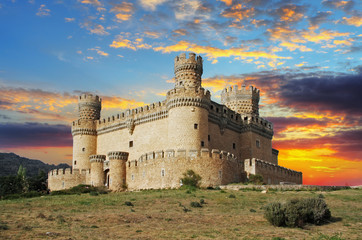 Old Castle in Span - Manzanares