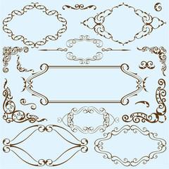 Victorian art ornament set