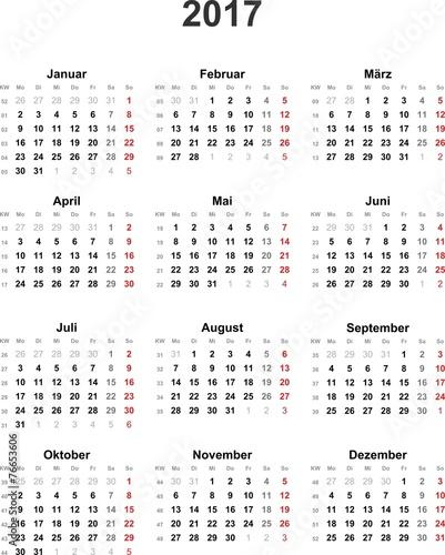 """""""Kalender 2017 universal"""