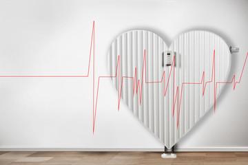 Heizkörper in form von Herz