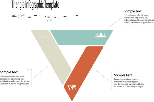 Infographic with triangle shape