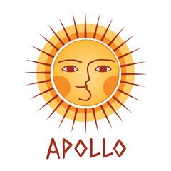 Greek sun god logotype