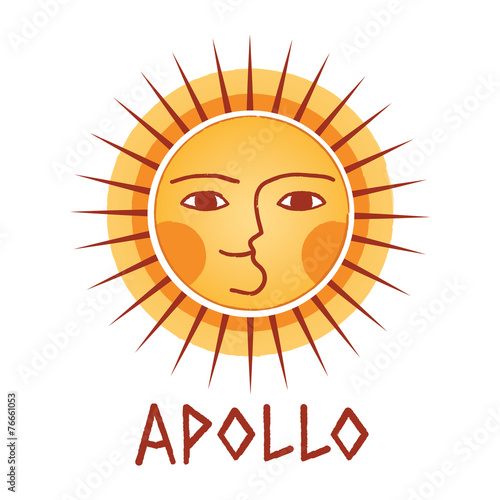 Greek Sun God Logotype Stock Image And Royalty Free Vector Files On