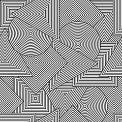 Vector background with geometric line shapes