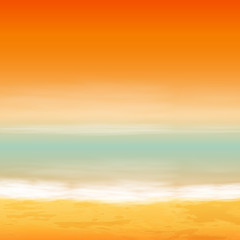 Sea sunset. Tropical background.