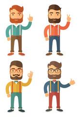 Hipster. Flat Vector Illustration.