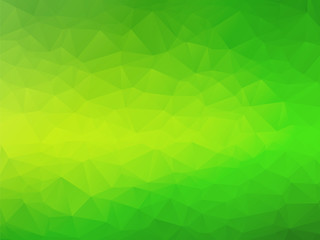 abstract triangular yellow green bio background