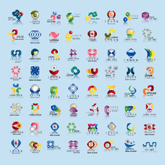 Unusual Icons Set - Isolated On Blue Background - Vector Illustration, Graphic Design Editable For Your Design