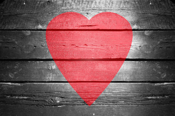Love. Valentines day. Red heart.