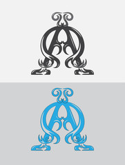 Alpha and Omega, art vector design