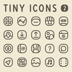 Tiny Line Icons for web and mobile applications Set 2