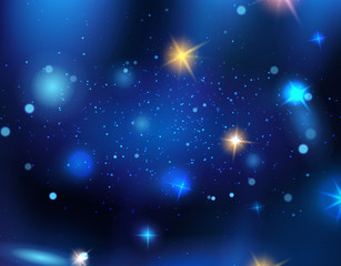Starry space illustrations