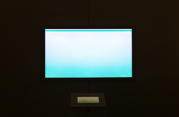 Blank public tv screen. Place for your text.