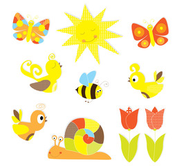 set of spring elements- vectors for children