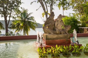 Statue on island of Phuket, Thailand. Thai style statues
