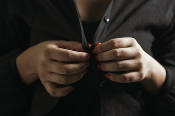 Beautiful  girl undressing herself