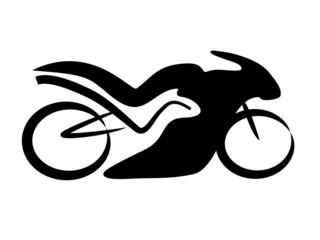 Fototapete - Rennmaschine Motorrad Tribal
