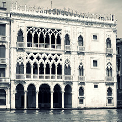 Buildings on Grand Canal in Venice