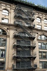 Fire escape on a building in New York
